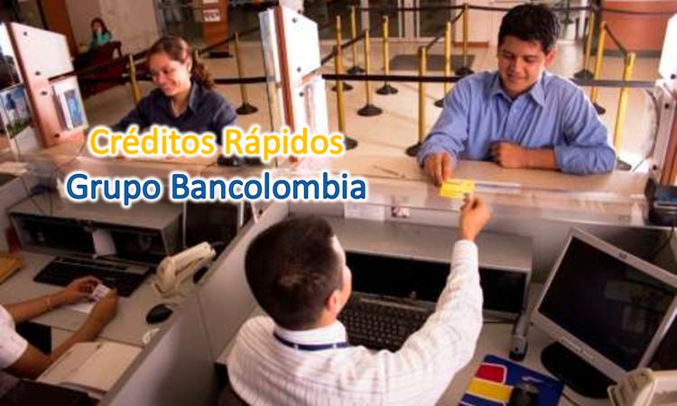 Créditos de respuesta inmediata en Bancolombia.